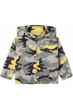 Dolce & Gabbana Kids Abrigo con capucha y estampado militar