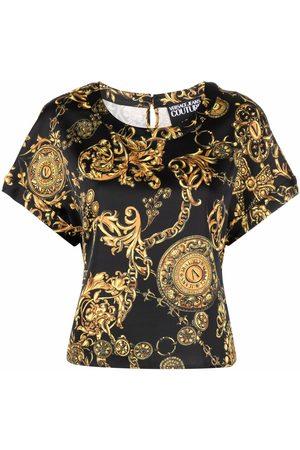 Versace Jeans Couture Camiseta con estampado barroco
