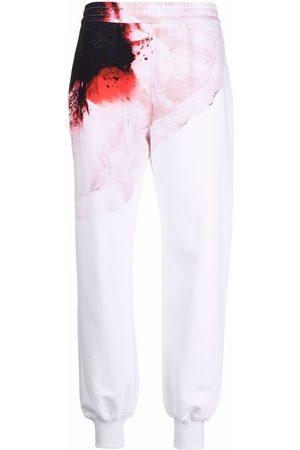Alexander McQueen Pantalones de chándal con estampado Anemone