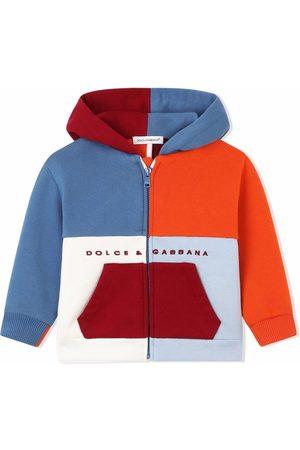 Dolce & Gabbana Kids Hoodie con diseño color block