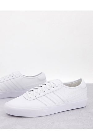 adidas Hombre Tenis - Delpala leather trainers in triple white