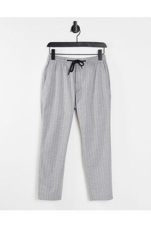 Topman Stripe joggers in grey