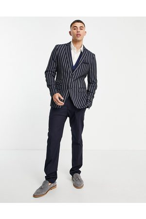 French Connection Slim fit linen stripe suit jacket