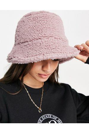 ASOS Borg bucket hat in lilac