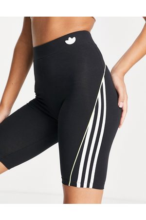adidas Legging shorts in black with three stripes