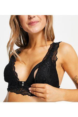 Mama Licious Mamalicious Maternity nursing lace bra in black
