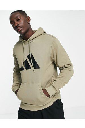 adidas Adidas Training hoodie with large BOS logo in khaki