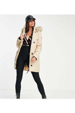 VERO MODA Parka with faux fur lined hood in
