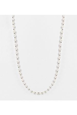 Serge DeNimes Silver pearl bead necklace