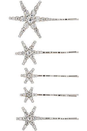 Jennifer Behr Conjunto de horquillas vespera en color plateado metálico talla all en - Metallic Silver. Talla all.