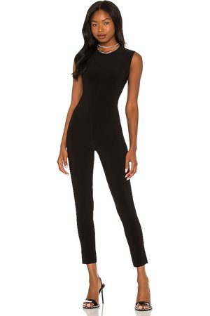 Norma Kamali Sleeveless catsuit en color talla L en - Black. Talla L (también en M, S, XS, XXS).