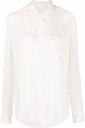 BOSS Camisa de seda con botones
