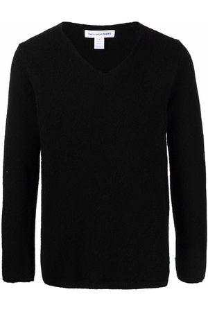 Comme Des Garçons Shirt Textured V-neck jumper