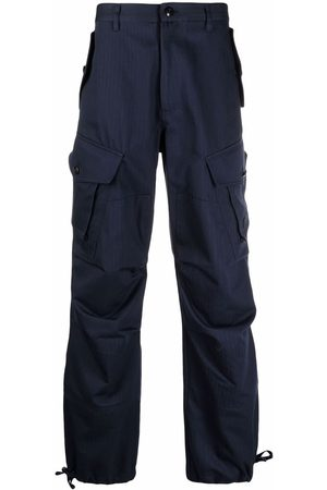 Kenzo Logo-embroidered cargo trousers
