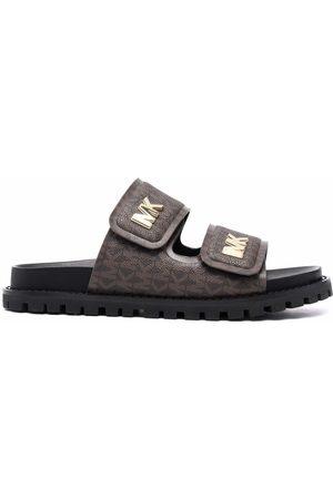 Michael Michael Kors Monogram-print double-strap sandals