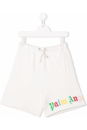 Palm Angels Kids CLASSIC OVER LOGO SHORT WHITE MULTICOLOR