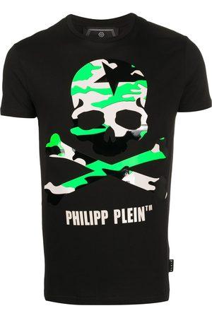 Philipp Plein Playera con calavera con motivo militar