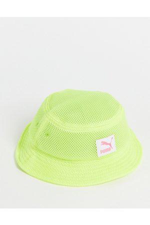 Puma Mesh bucket hat in green