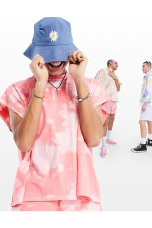 ASOS DESIGN Festival bucket hat in denim with embroidered daisy