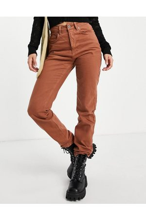 The Ragged Priest Mom jeans with butt cut in brown
