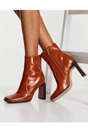 ASOS DESIGN Embrace leather high