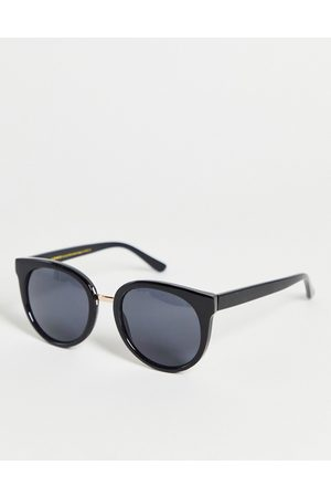 A. Kjærbede Gray womens round sunglasses in black