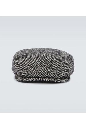 Dolce & Gabbana Herringbone wool-blend hat
