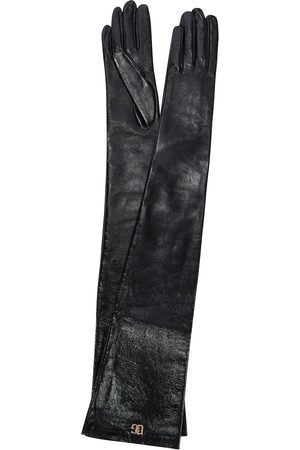 Dolce & Gabbana Long faux leather gloves