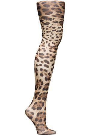 Dolce & Gabbana Pantimedias con estampado de leopardo