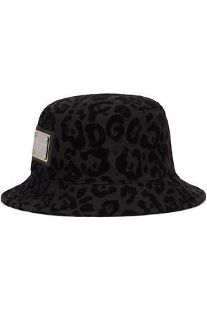 Dolce & Gabbana Gorro de pescador con estampado de leopardo