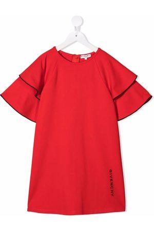Givenchy Kids Niña Estampados - Vestido con volantes y logo estampado