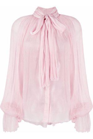Atu Body Couture Mujer Blusas - Blusa con lazo en el cuello