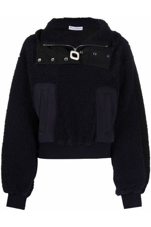 J.W.Anderson Mujer Con capucha - Panelled zip-up hoodie