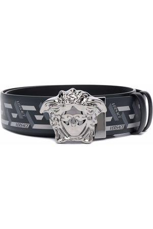 Versace Hombre Cinturones - Cinturón con estampado Medusa Head Greca