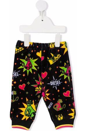 Diesel Kids Leggings y treggings - Graphic-print trousers