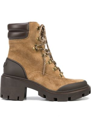 Tory Burch Mujer Botines - Hiker lug-sole suede ankle boots