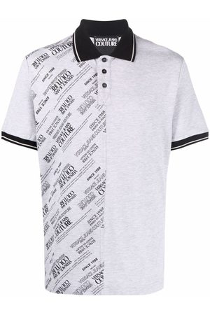 Versace Jeans Couture Logo pattern polo shirt
