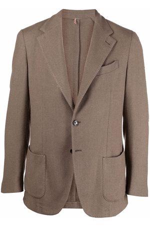 DELL'OGLIO Single-breasted wool-blend blazer