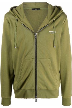 Balmain Logo-print organic cotton hoodie