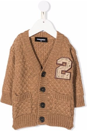 Dsquared2 Kids Cárdigans - Checked knit cardigan