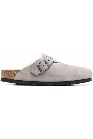 Birkenstock Hombre Sandalias - Boston fur-lined buckle sandals