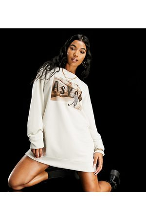 AsYou Graphic sweat dress in stone