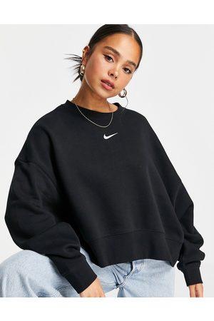 Nike Mujer Con capucha - Mini Swoosh oversized boxy sweatshirt in black