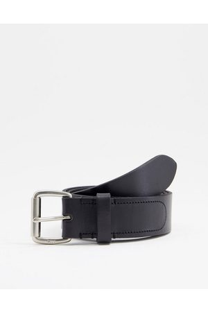 Polo Ralph Lauren Leather belt in black with pony logo