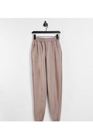 Threadbare Tall Mujer Leggings y treggings - Panelled joggers in taupe