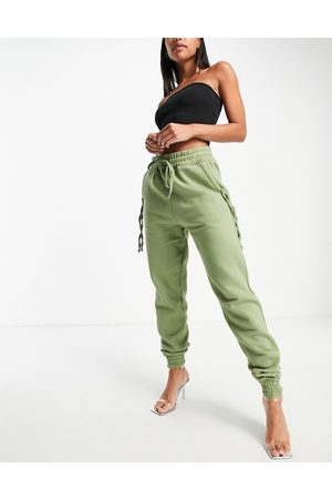 Public Desire Zip detail joggers co ord in olive