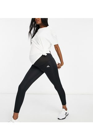 adidas performance Mujer Leggings - Adidas Training Maternity Designed To Move 7/8 leggings in black