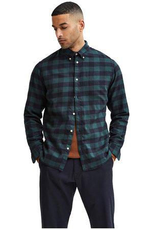 SELECTED Camisa Manga Larga Slim Flannel M Darkest Spruce / Checks Box