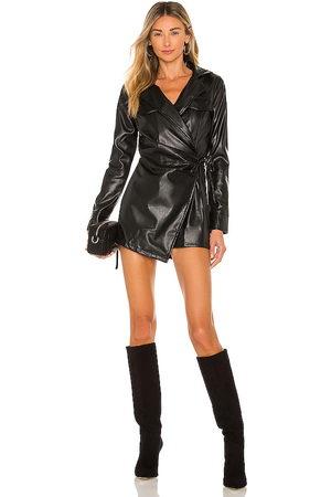 superdown Mujer Cortos - Chantel leather romper en color talla L en - Black. Talla L (también en XXS, XS, S, M, XL).