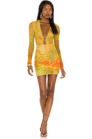 Farai London Conjunto de minifalda en color amarillo talla L en - Yellow. Talla L (también en S, XS, M).